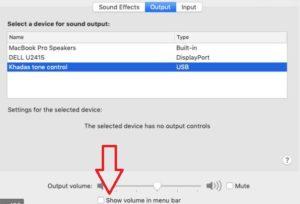 Apple Mac Audio Control