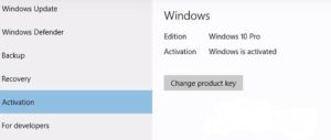 Completed Windows 10 Activation